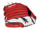 Back of a red/white Washington Nationals 10-inch youth glove with the MLB logo on the pinky - SKU: 22000031111 image number null