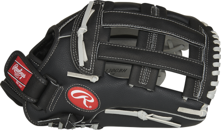Thumb of a black RSB130GBH 13-Inch RSB outfield glove with a black Pro H-web