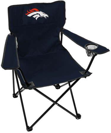 NFL Denver Broncos Gameday Elite Chair with team colors and logo on the back