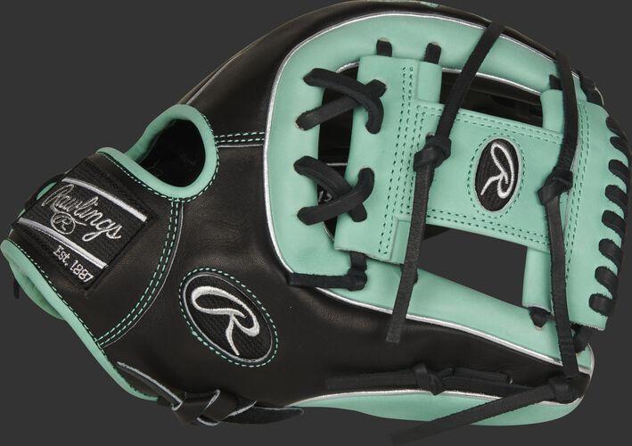 Thumb of a black/ocean mint 2021 Pro Preferred 11.75-Inch infield glove with an ocean mint I-web - SKU: PROS315-2BOM