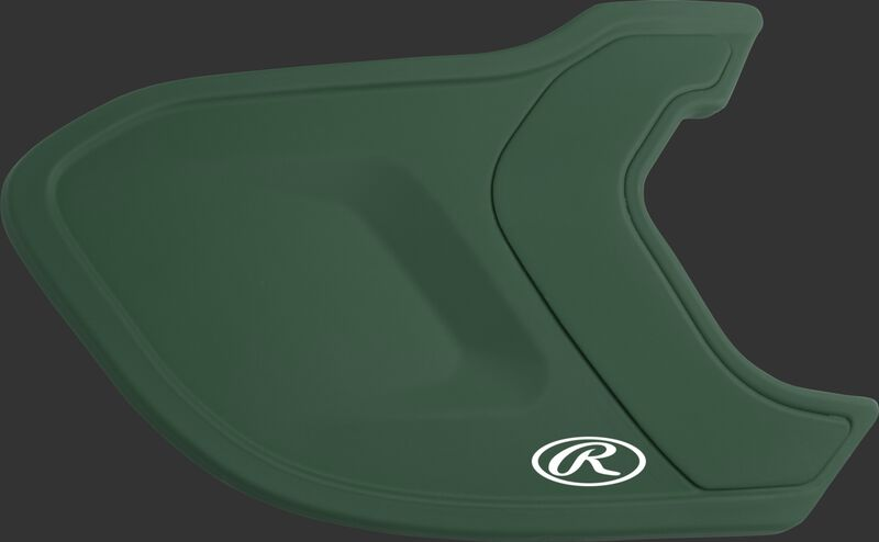 A matte dark green MEXT Mach EXT batting helmet extension