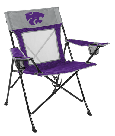 Front of Rawlings Purple and Grey NCAA Kansas State Wildcats Game Changer Chair With Team Logo SKU #00643033111