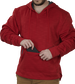 Valuable/phone pocket of a scarlet PFH2 fleece pullover hoodie image number null