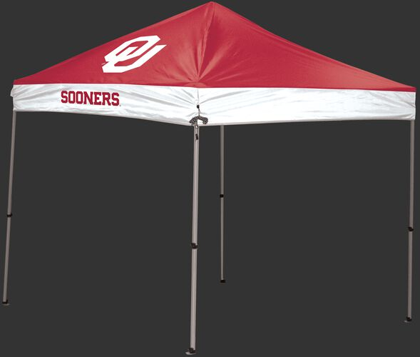 Rawlings maroon and white NCAA Oklahoma Sooners 9x9 Canopy Shelter With Team Logo and Name SKU #04033045111