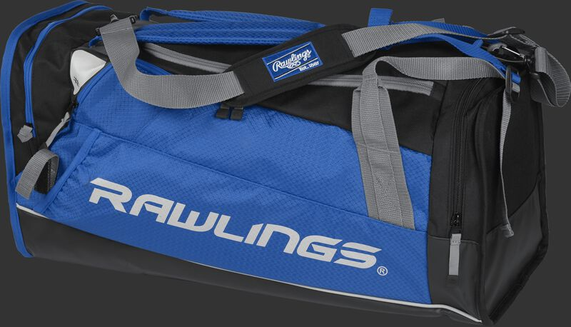 Side angle view of a royal R601 Rawlings Hybrid duffel backpack