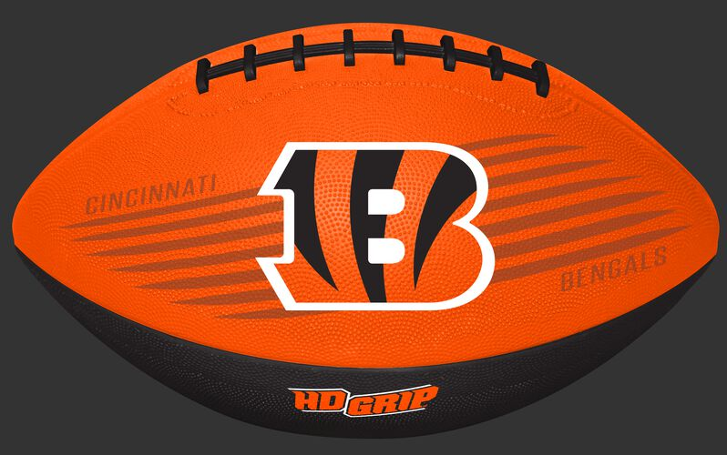 Orange NFL Cincinnati Bengals Downfield Youth Football With Team Logo SKU #07731063121