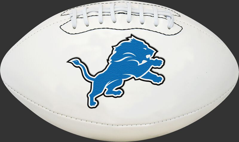 White NFL Detroit Lions Football With Team Logo SKU #06541067811