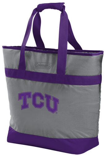 Rawlings TCU Horned Frogs 30 Can Tote Cooler In Team Colors With Team Logo On Front SKU #07883177111