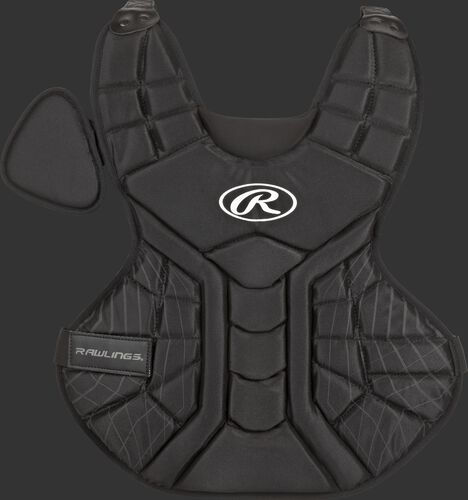 A black ACACPPL-B Players Series adult 16-inch chest protector