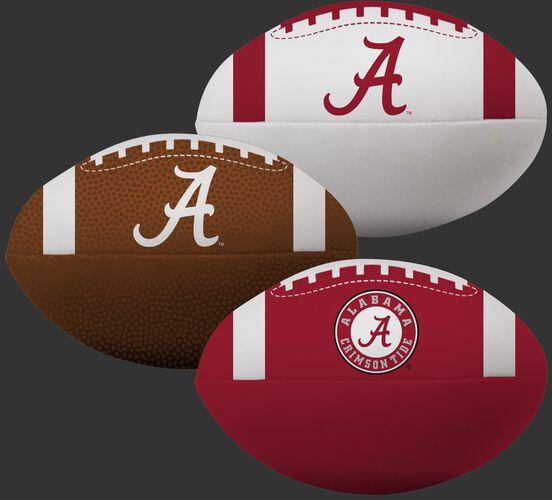 NCAA Alabama Crimson Tide 3 Softee Football Set With Team Logo and White, Brown, and Crimson Football Colors SKU #08623066114