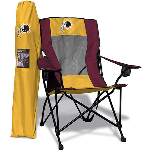 Front of Rawlings Yellow and Burgundy NFL Washington Redskins High Back Chair With Team Logo SKU #09211087518