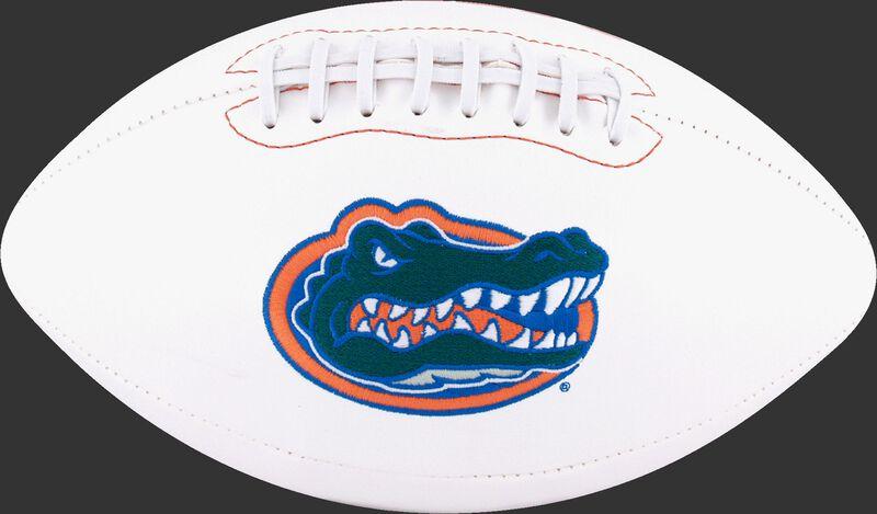 White NCAA Florida Gators Football With Team Logo SKU #05733022122