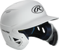 Right angle view of a MACHEXTR Rawlings Mach EXT junior helmet with a one-tone matte white shell image number null
