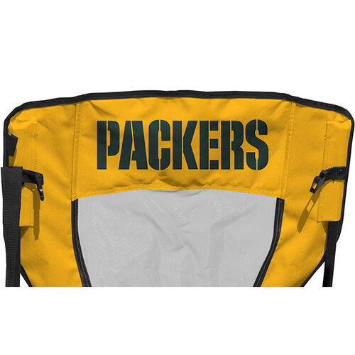 Back of Rawlings Green and Yellow NFL Green Bay Packers High Back Chair With Team Name SKU #09211068518