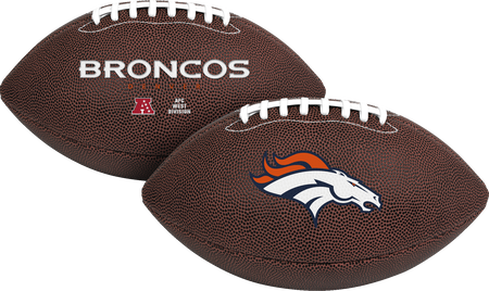 NFL Denver Broncos Air-It-Out youth football with team logo