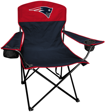 Front of Rawlings Navy and Red NFL New England Patriots Lineman Chair With Team Logo SKU #31021076111