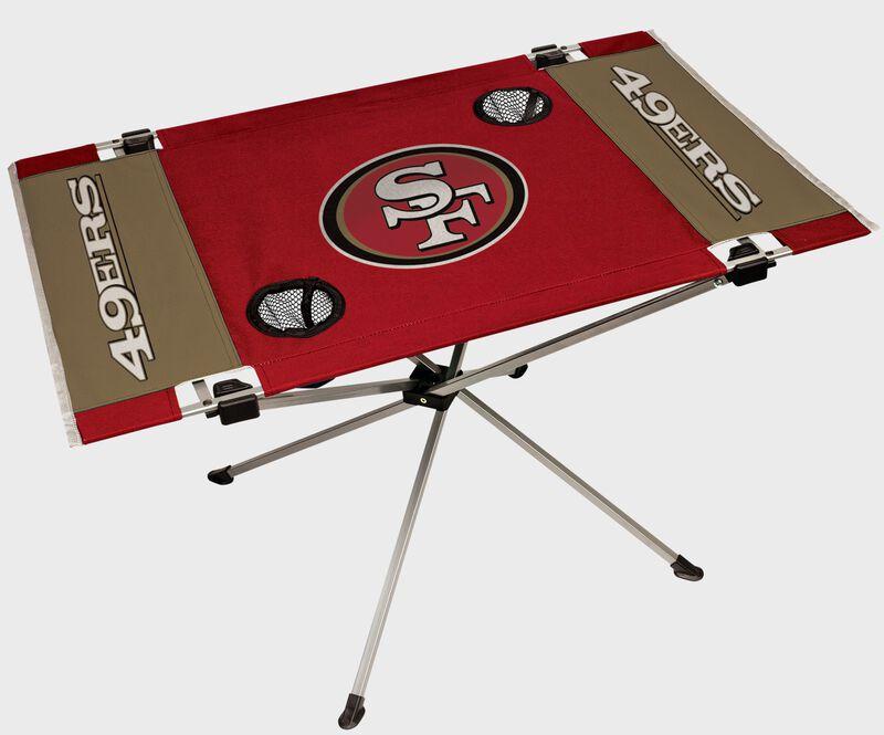 A San Francisco 49ers endzone table