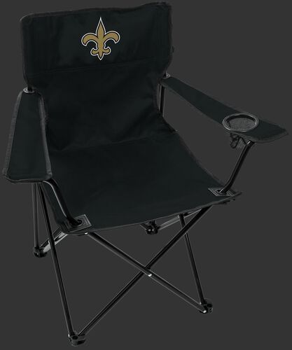 Front of Rawlings Black NFL New Orleans Saints Gameday Elite Chair With Team Logo SKU #00551077111