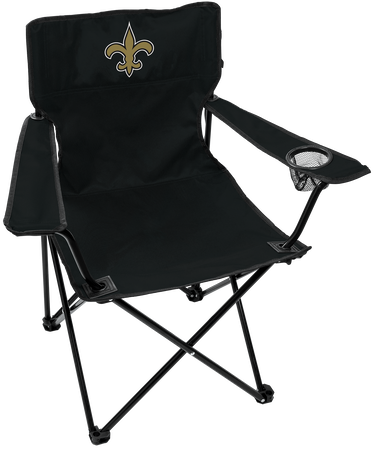 NFL New Orleans Saints Gameday Elite Chair with team colors and logo on the back