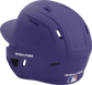 Back left view of a matte purple MACH series batting helmet with air vents image number null