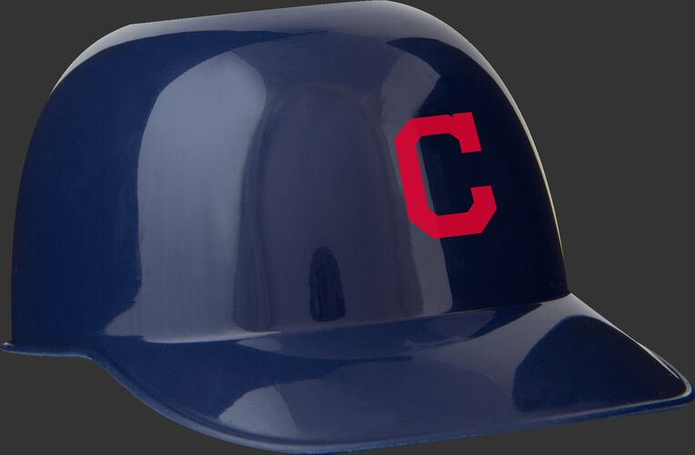 Front of Rawlings Navy Blue MLB Cleveland Indians Snack Size Helmets With Team Logo SKU #01950014122