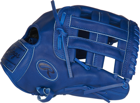 Thumb of a royal PROKB17-6R Heart of the Hide Pro Label 12.25-Inch glove with a royal H-web