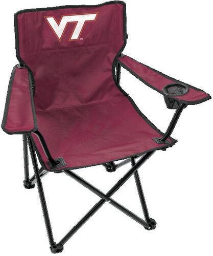 Front of Rawlings Maroon NCAA Virginia Tech Hokies Gameday Elite Chair With Team Logo SKU #00563111111
