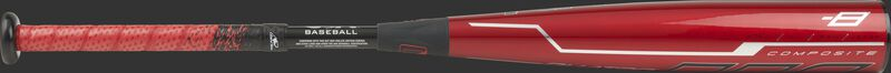 USZQ8 Rawlings Quatro Pro -8 youth bat with a red barrel, black handle and red/black grip
