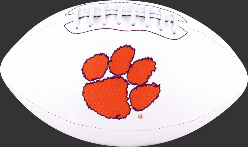 White NCAA Clemson Tigers Signature Series Football With Team Logo SKU #05733010121