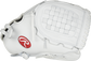 Thumb view of a white PRO125SB-3W Heart of the Hide 12.5-inch Fastpitch infield glove with a white Basket web image number null