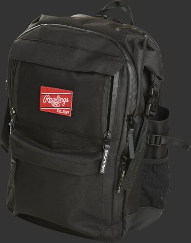 Front angle of a Rawlings coach's backpack - SKU: CEOBP-B