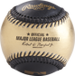 A gold/black MLB official baseball with the commissioner's signature - SKU: RSGEA-ROMLB/B-R image number null