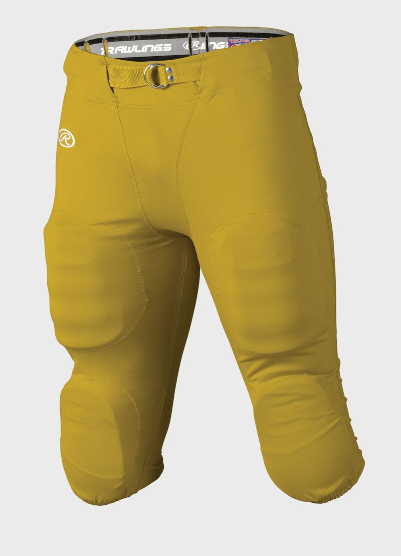 Front of Rawlings Light Gold Youth Slotted Football Pant - SKU #YFP147