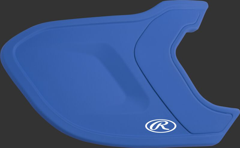 A matte royal MEXT Mach EXT batting helmet extension