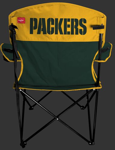 Back of Rawlings Green and Yellow NFL Green Bay Packers Lineman Chair With Team Name SKU #31021068111