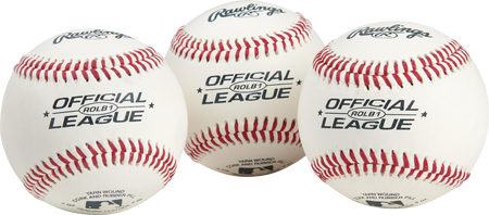 Official League Competition Grade Baseballs | 3 Pack