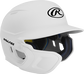 Right angle view of a matte white MACHEXTL Mach Junior helmet with Mach EXT left hand batter face guard extension image number null