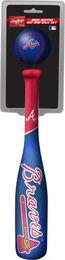 MLB Atlanta Braves Slugger Softee Mini Bat and Ball Set