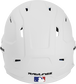 Back of a MACHEXTL high performance junior MACH helmet with a matte white shell and Official Batting Helmet of MLB logo image number null