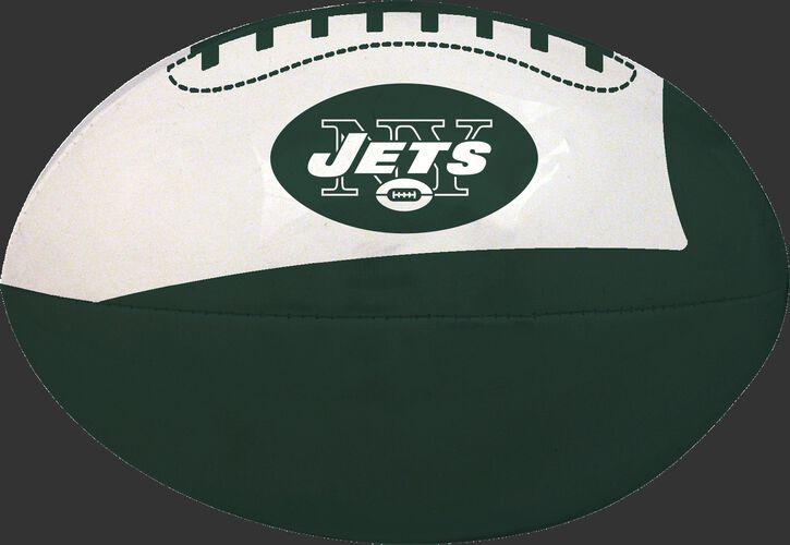 Green and White NFL New York Jets Football With Team Logo SKU #07831079114
