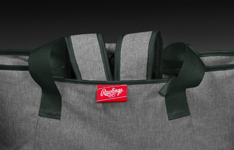 Backpack straps in the stowaway compartment of a Green Bay Packers 30 can cooler - SKU: 10311068111