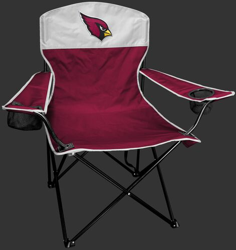 Front of Rawlings Red and White NFL Arizona Cardinals Lineman Chair With Team Logo SKU #31021081111