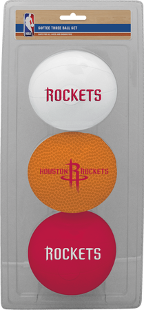 NBA Houston Rockets Three-Point Softee Basketball Set