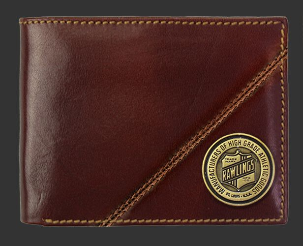 A Buffalo Voyager bi-fold wallet with a coin emblem on the bottom right corner - SKU: MW487-202