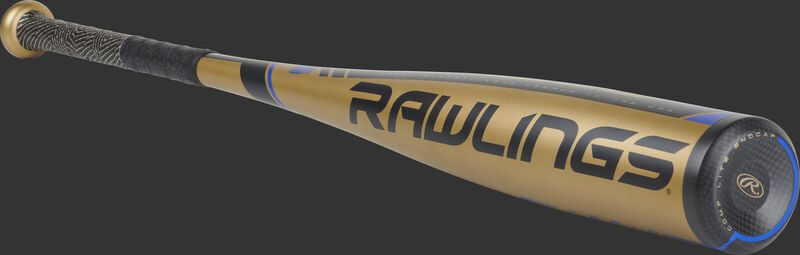 UT9V10 Rawlings Velo -10 gold baseball bat with black accents