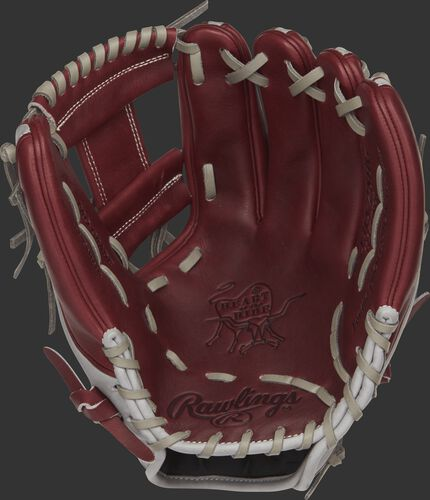 PRO315-2SHG Rawlings 11.75-inch infield glove with a sherry palm and grey laces