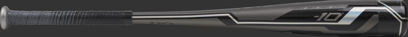 USZV10 Rawlings USA youth bat with a grey barrel and black/silver accents
