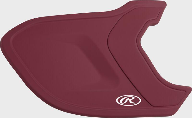 A matte cardinal MEXT Mach EXT batting helmet extension