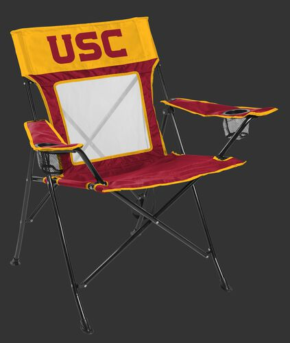 Front of Rawlings Cardinal and Gold NCAA USC Trojans Game Changer Chair With Team Logo SKU #00643100111