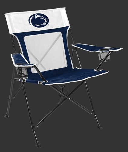 Front of Rawlings White and Navy NCAA Penn State Nittany Lions Game Changer Chair With Team Logo SKU #00643050111